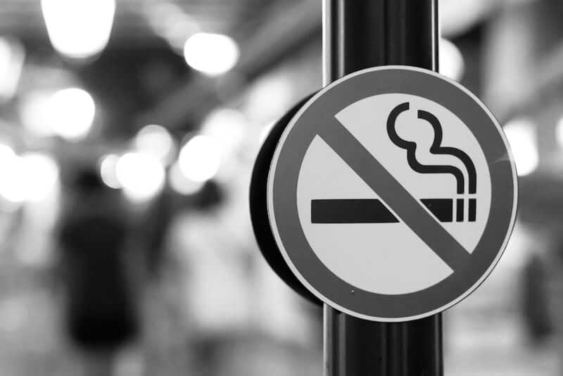 No smoking during laser tattoo removal process